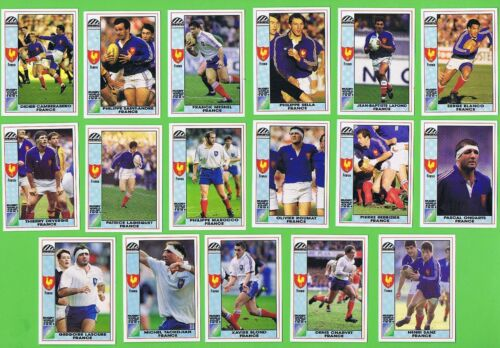 #D557. 1991  FRANCE RUGBY UNION WORLD CUP CARDS Rugby Union Cards - 2969