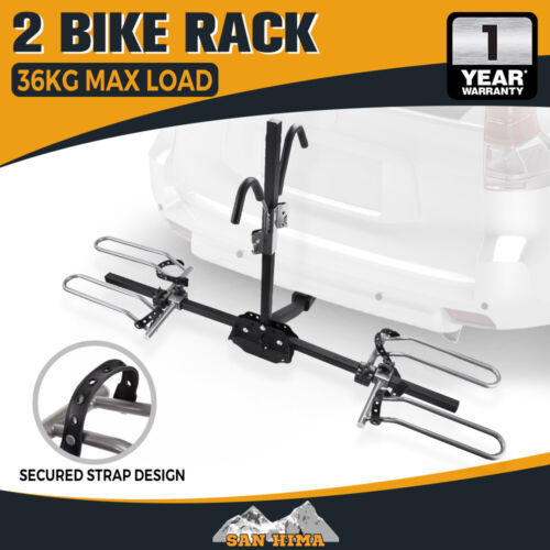 """SAN HIMA 2 Bicycle Bike Rack Rear Car Carrier 2"""" Hitch Mount Platform Foldable <br/> Extra 10% OFF with code PREPARE, ends 30/01/2020"""