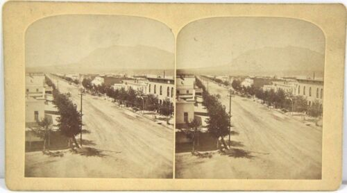 Byron Gurnsey Stereoview – Tejon St, Colorado Springs Looking South 1870s