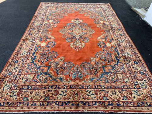 ANTIQUE  AMERICAN P....N SAROUK MOHAJERAN  RUG 6X9FT CIR 1900