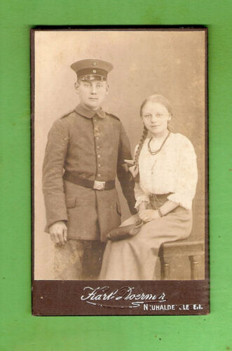 #D412. #14.  GERMAN   IMPERIAL  MILITARY  PERIOD CABINET  CARD, 64mm by 104mm