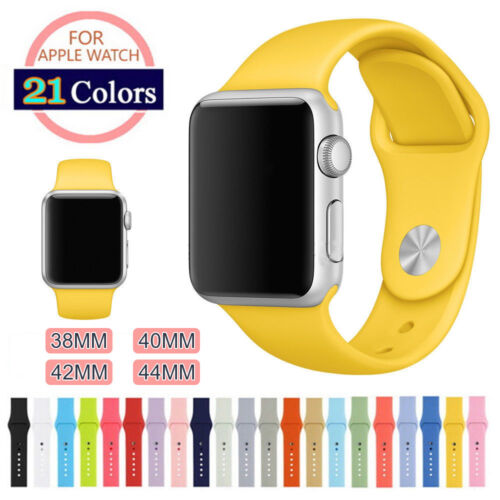 Silicone Sport Band Strap for Apple Watch iWatch Series 5 4 3 2 38/40mm 42/44mmWristwatch Bands - 98624