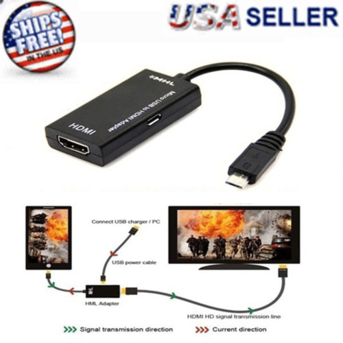 MHL Micro USB Male to HDMI Female Adapter Cable for Android Smartphone Tablet TV