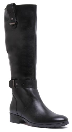 Justin Reece Womens Leather Elegant Long Riding Boots In Black Size UK 3 - 8