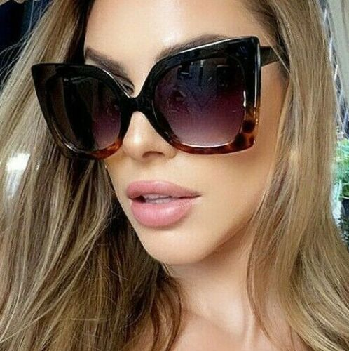 "Sunglasses ""JACKIE"" Large Oversized XL Square Lady Women Retro Vintage SHADZ"