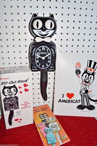 NEW Classic AUTHENTIC Original Kit Cat Clock Made  USA Ship Priority in 48 hrs.