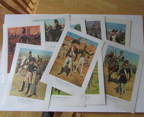 THE AMERICAN SOLDIER Set No 1; 10 Prints of Uniforms 1781-1855 ... Sealed Pack!Other Militaria - 135