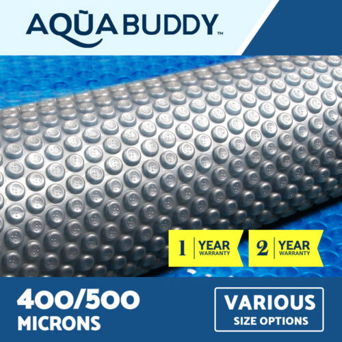 Aquabuddy Solar Swimming Pool Cover Outdoor Bubble Blanket REAL 400 500 Micron <br/> High quality LDPE✔ UV-resistant✔ Safety and durable✔