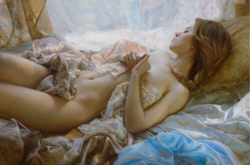 YHLM615 nude girl sleeping beauty 100% hand painted art oil painting on canvas