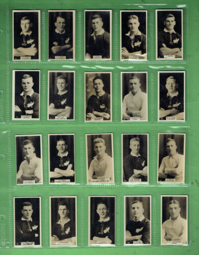 #UU1.   NEW ZEALAND SET 1927 RUGBY UNION FOOTBALLERS CIGARETTE CARDS Rugby Union Cards - 2969