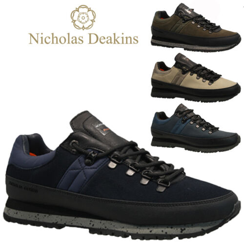 MENS NICHOLAS DEAKINS LEATHER DESERT HIKING CHUKKA WALKING BOOTS SHOES TRAINERS