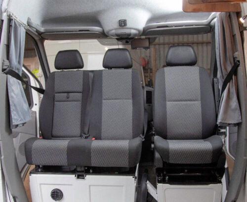 VW Crafter Sprinter UK's Only M1 Tested Open Top Double Swivel Seat Base  <br/> Volkswagen Crafter, Mercedes Sprinter, swivel seat, M1,