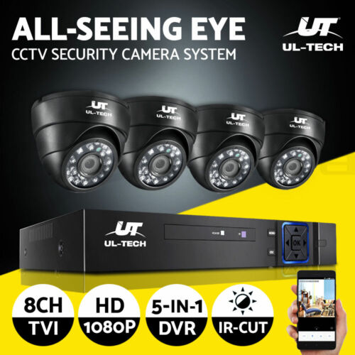 UL-tech CCTV Camera Security System Home 8CH DVR 1080P IP Day Night Cameras Kit