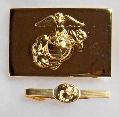 U.S.M.C. Belt Buckle and Tie Clasp in Beautiful ConditionMarine Corps - 66531
