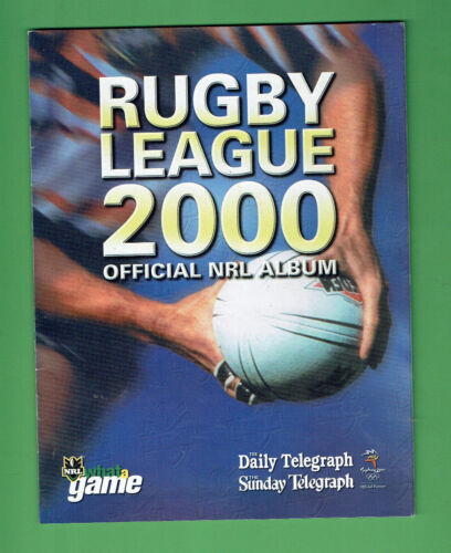 #t80.   2000 Telegraph Nrl  Rugby League  Album - Stickers Complete