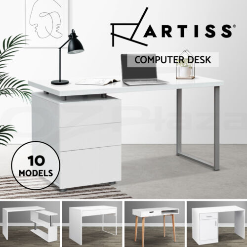Artiss Office Computer Desk Student Study Table Home Workstation Corner Shelf <br/> ✔10 Models✔Top Quality✔Sturdy & Durable✔Thick Tabletop