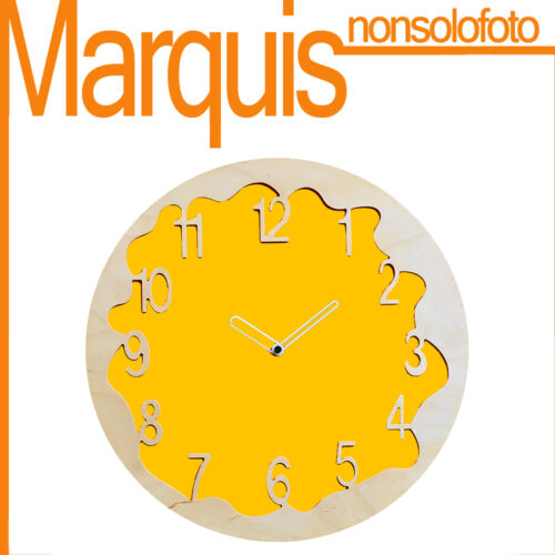 """Wall clock Item 046 """"Ombre"""" yellow melon 1028 Pirondini Marquis"""