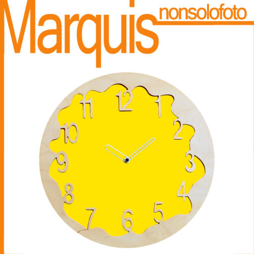 """Wall clock Item 046 """"Ombre"""" yellow sulfur 1016 Pirondini Marquis"""