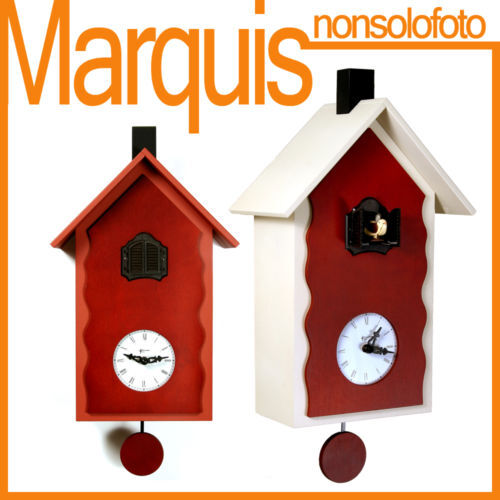 Watch Pendulum With Cuckoo art.101' Lac' Pirondini Italy Time Marquis
