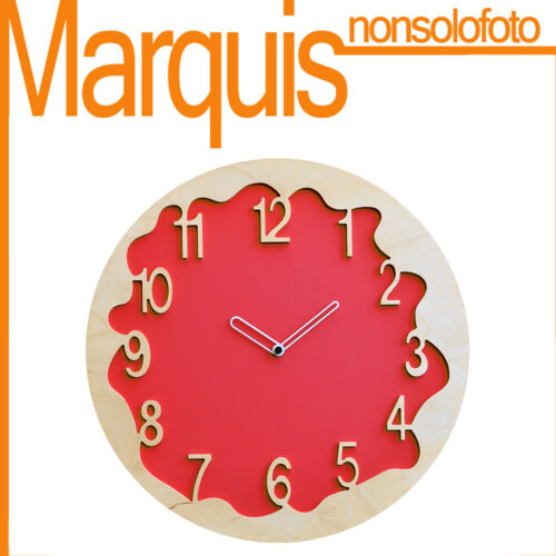 """Wall clock Item 046 """"Ombre"""" red 2002 Pirondini Marquis"""