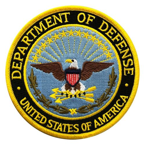 U.S.A Department of Defense DOD Iron on Sew on 4 inch PatchOther Current Military Patches - 36070