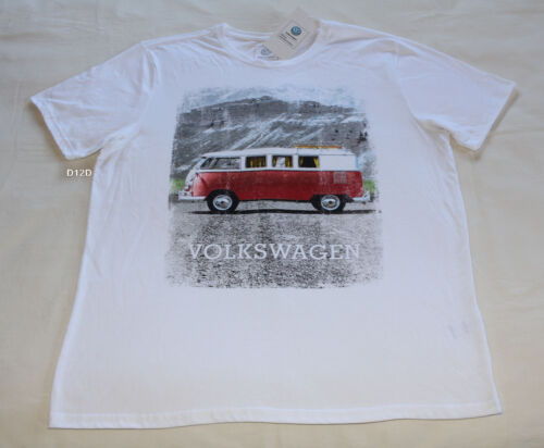Volkswagen Kombi Campervan Mens White Printed Short Sleeve T Shirt Size M New