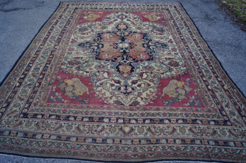 Antique P..... n  kermanshah  rugs  9x13ft ca 1850