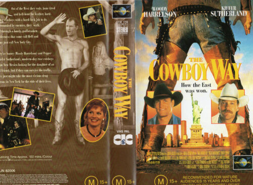 THE COWBOY WAY- Woody Harrelson - VHS-PAL- NEW-NEVER PLAYED -Original Oz release