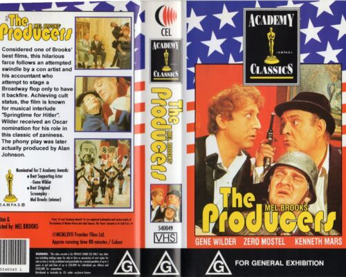 THE PRODUCERS - Mel Brooks - VHS - N&S - PAL - Original Oz sell-thru release