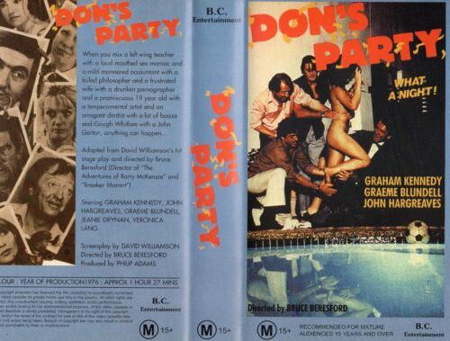 DON'S PARTY - Graham Kennedy - VHS - NEW - PAL - Original Oz sell-thru release