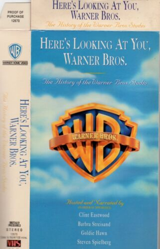 HERE'S LOOKING AT YOU, WARNER BROS -VHS NEW -Never played -Original USA release