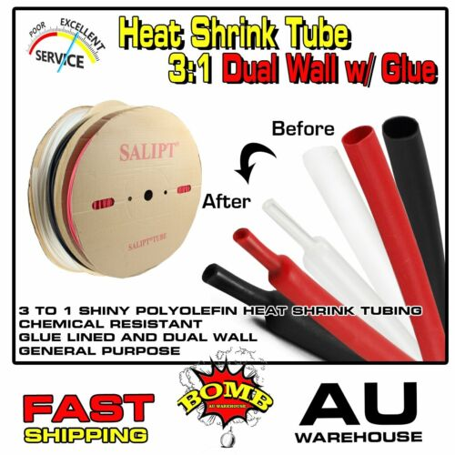 Glue Lined Heat Shrink Tubing Heatshrink Wire Insulator Sleeve Dual Wall Guards <br/> 596+ Sold~Protect,Against Damage Abrasion,No Corrosion