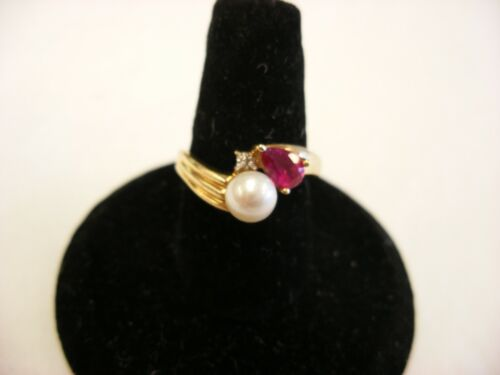 Vintage Victorian Style Jewelry 10K Gold Ring  Size 5 3/4 - 2.41g #135