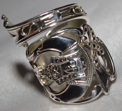 ANTIQUE SHRINERS STERLING SPOON RING VERY 3 DIMENSIONAL FREE SHIPPING