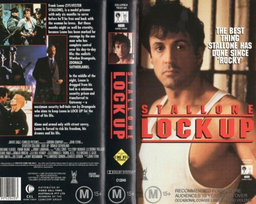 LOCK UP - Sylvester Stallone - VHS - NEW - PAL - Original Oz sell-thru release