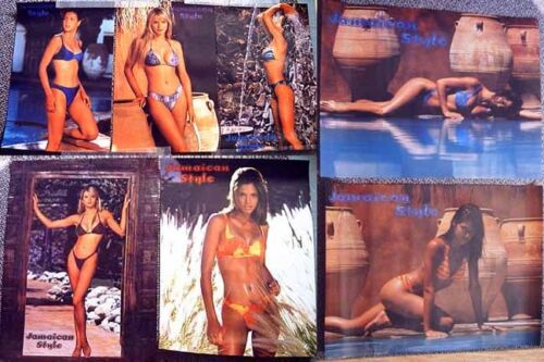 "8 SWIM SUIT POSTERS ""Jamaican Style"" Bikinis, (4) 12x18, (4) 18x24 PPD-USA!"