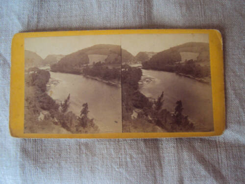 Early Stereoview Easton PA Up Delaware From College Hill BIV Birds Eye View A