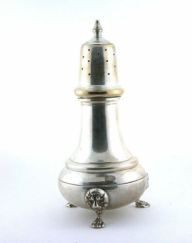 4 4/5 x 2 1/3 INCH VINTAGE PURE SOLID STERLING SILVER SALT SHAKER AS48