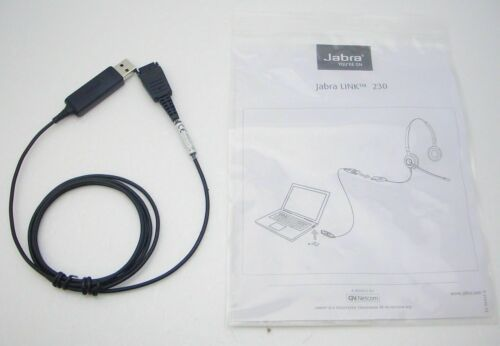 Jabra Link 230 USB Cable 230-09 New In Bag for GN Netcom QD Corded Headset to PC