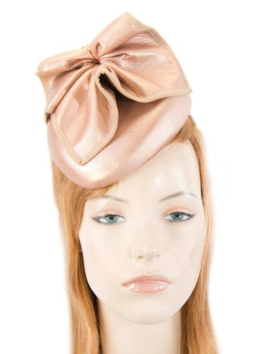 Rose Gold leather pillbox fascinator by Max Alexander for races  RRP 119.95