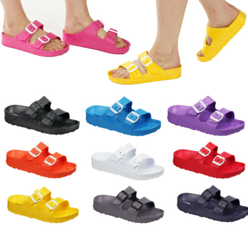 Ladies & Girls Slip On Flip Flop Colourful Sandals Size 3 to 8 UK - WOMENS EVA <br/> FULLY WATERPROOF - 10 COLOURS AVAILABLE