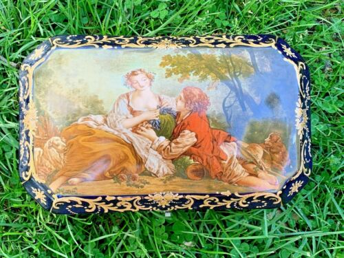 Antique French Repose Art Nouveau SEVRES Jewelry Trinket Casket Boudoir Box ❤️17