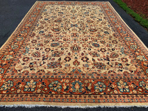 ANTIQUE AMERICAN   P....N SAROUK  RUG 7X10FT  CIRCA 1920