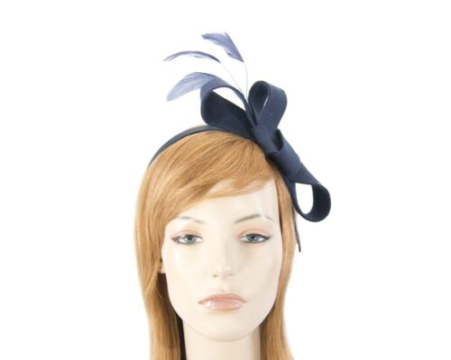 Navy bow autumn & winter racing fascinator Max Alexander RRP $129
