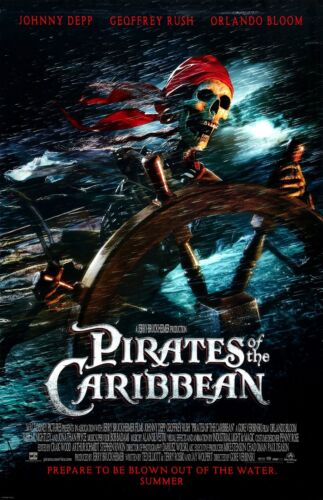 """Pirates Of The Caribbean movie poster  : 11"""" x 17"""" : Skellington Pirate"""