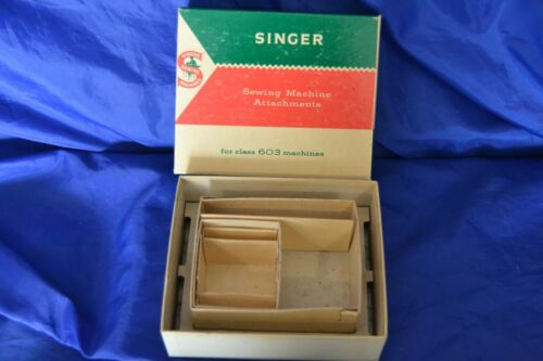 ATTACHMENT BOX SINGER 603 TOUCH & SEW SEWING MACHINES ORIGINAL VINTAGE NICE