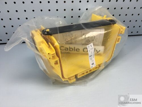 "NEW FGS-MFAW-B ADC COMMSCOPE FIBERGUIDE 4"" H X 6"" W SNAP-FIT JUNCTION YELLOW"