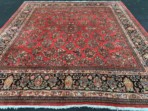ANTIQUE AMARICAN  P.....N  SAROUK MOHAJERAN  RUG 10X10 FT