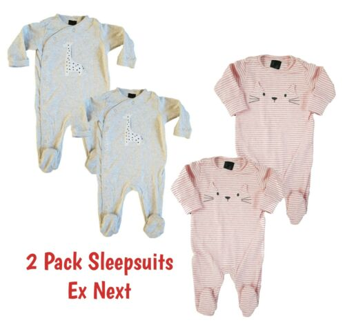 Ex NXT Baby Boys Babygrows Sleepsuits 3 4 5 Pack Multipack 100% Cotton Babygrow