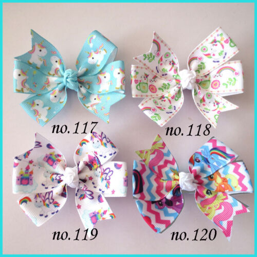 """500 BLESSING Good Girl 3.25"""" Abby Hair Bow Clip Unicorn Accessories Wholesale"""